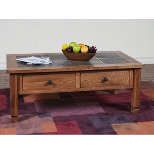 Fresno Coffee Table with Slate Top Loon Peak