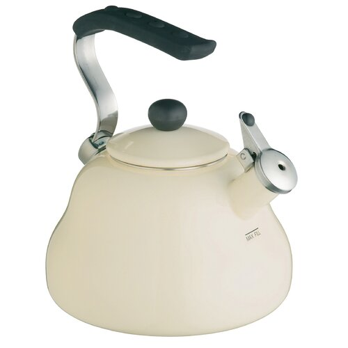 LeXpress 2L Stainless Steel Whistling Stove Top Kettle in Cream KitchenCraft