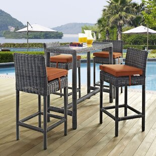 Keiran 5 Piece Bar Height Dining Set with Cushion By Brayden Studio
