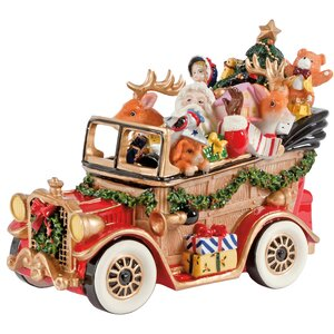 Santa's Classic Car Holiday Musical Figurine
