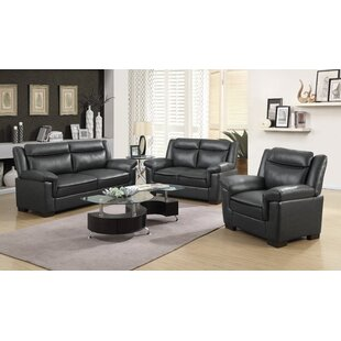 Fredrika 3 - Piece Faux Leather Configurable Living Room Set by Latitude Run®