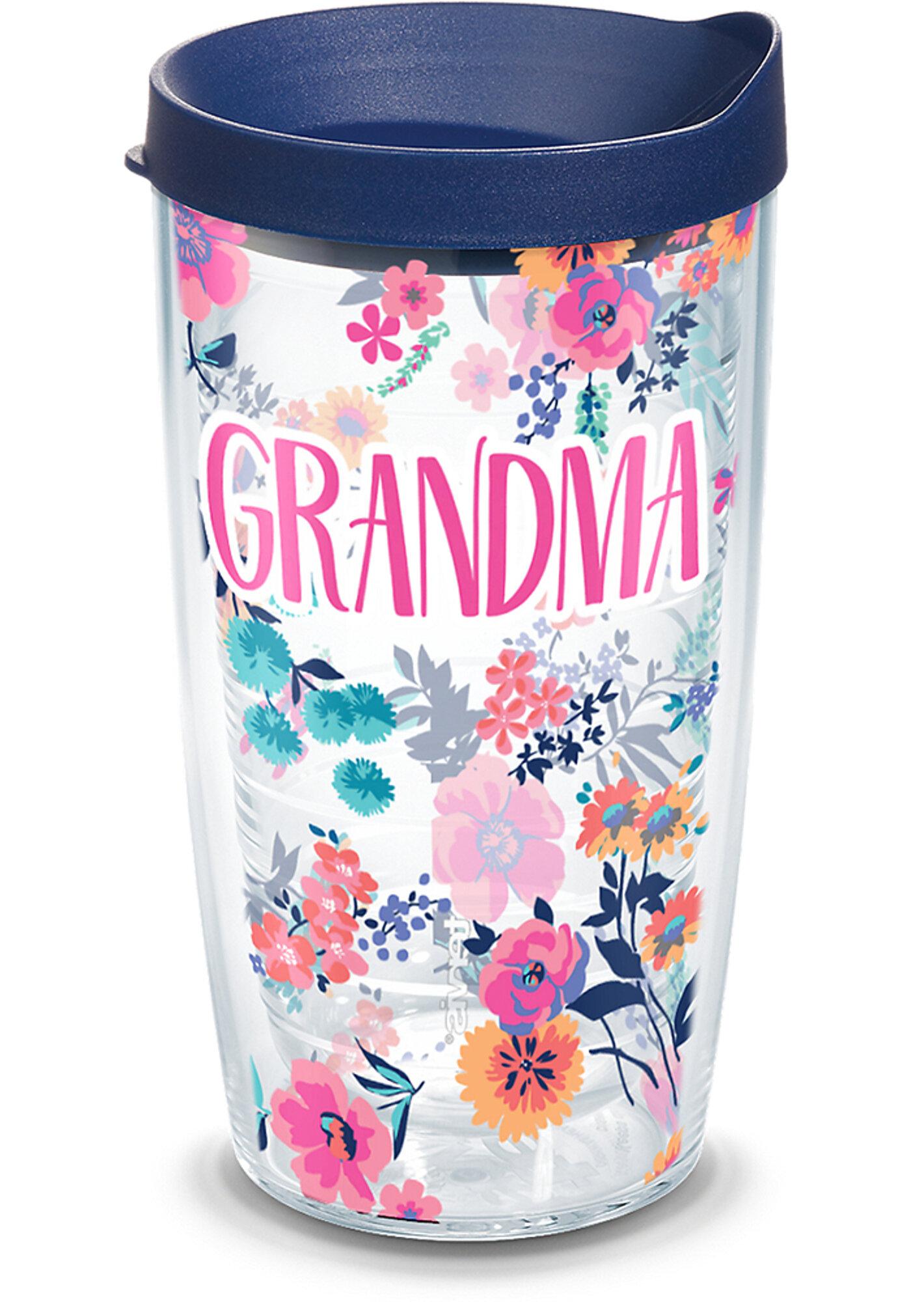 Tervis Tumbler Grandma Dainty Floral 16 Oz Travel Tumbler Wayfair