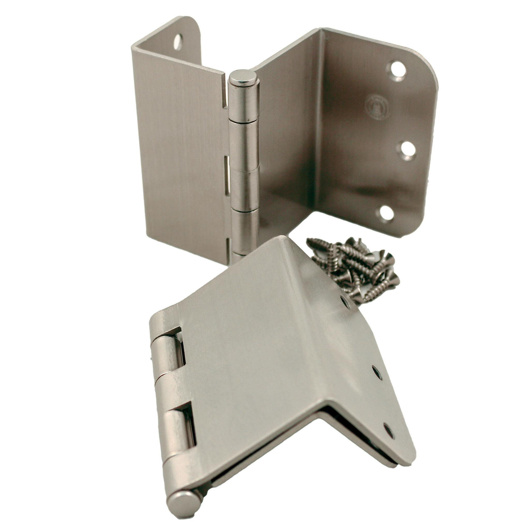 Stone Harbor Hardware 3.5\  H x 4.5\  W Offset Pair Door Hinges \u0026 Reviews | Wayfair  sc 1 st  Wayfair & Stone Harbor Hardware 3.5\