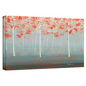 'Dream Forest' Painting Print on Wrapped Canvas by Andover Mills