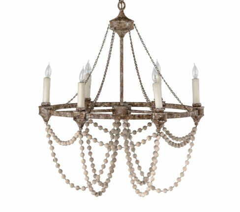 Nadia 6 light candle style chandelier