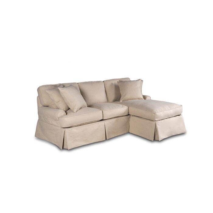 Huguley T Cushion Sofa And Chaise Lounge Slipcover