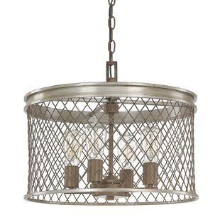 Eastman 4-Light Drum Chandelier by Donny Osmond Home