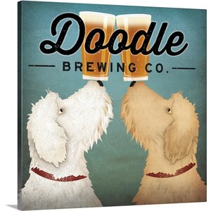 'Doodle Beer Double' by Ryan Fowler Vintage Advertisement on Wrapped Canvas by Great Big Canvas