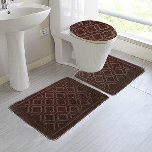 Beau Brown Bathroom Rug Sets | Wayfair