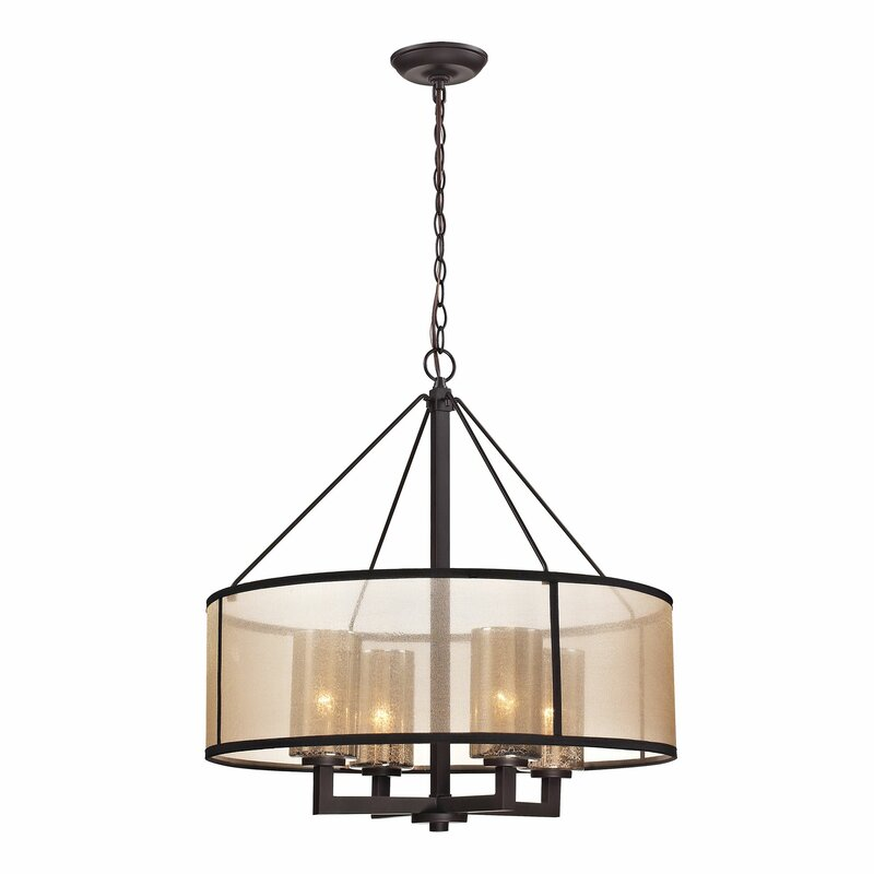 chrome finish round light chandelier
