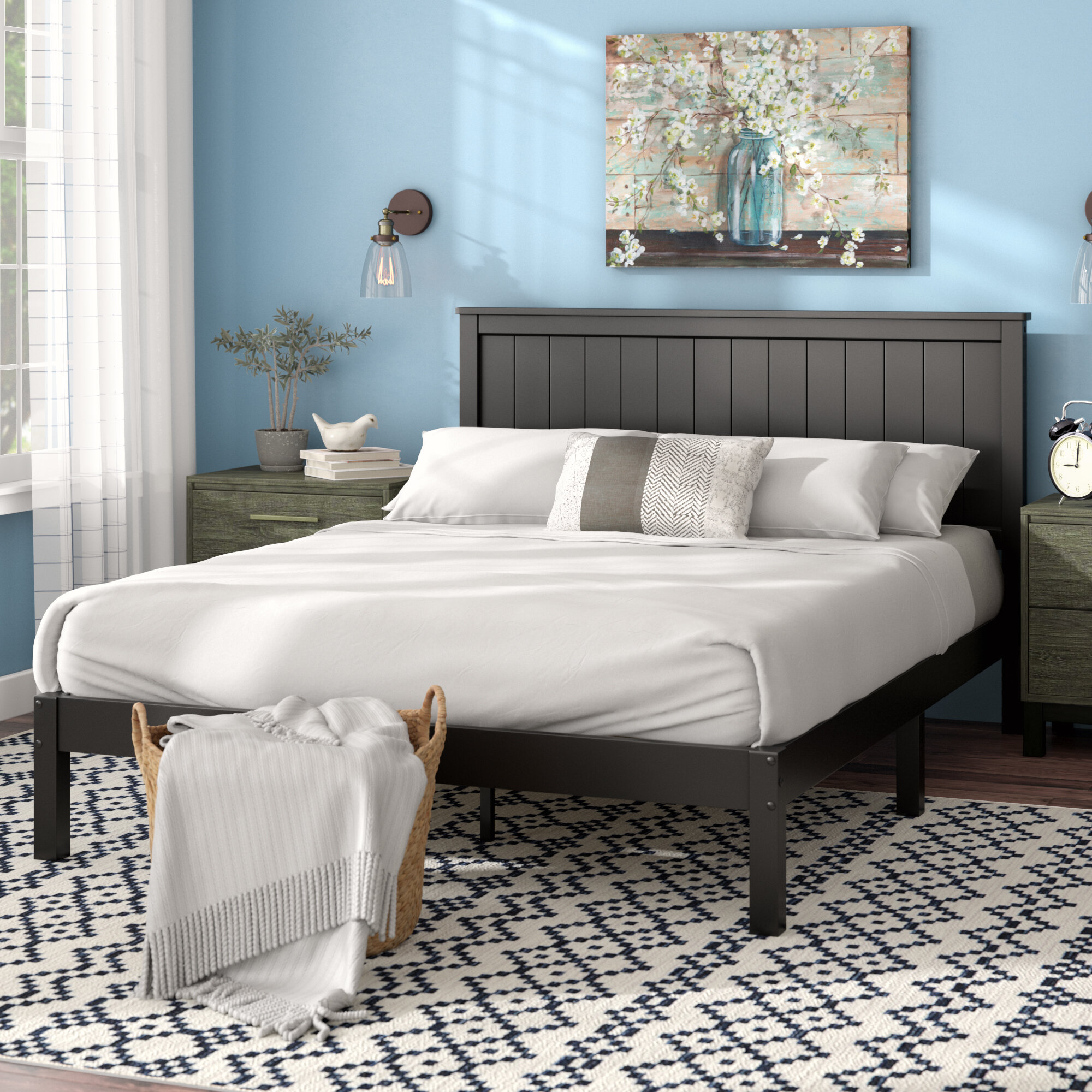 Picture of: Laurel Foundry Modern Farmhouse Letha Solid Wood Platform Bed Reviews Wayfair