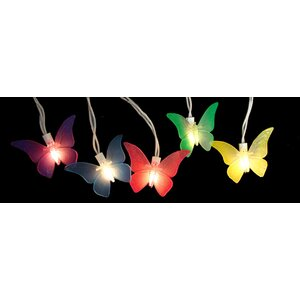 10-Light Butterfly Summer String Lights (Set of 10)