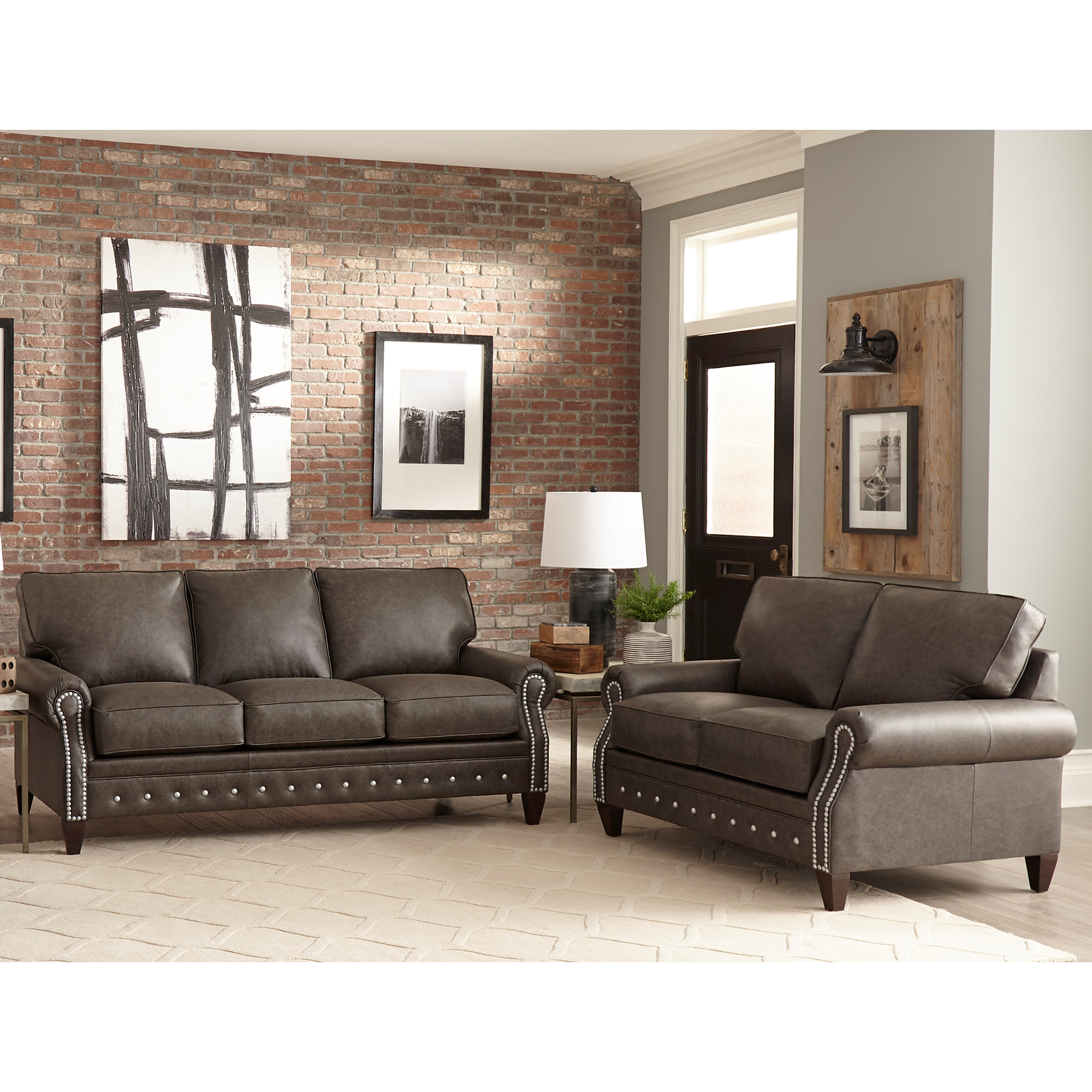 Jacey 10 Piece Leather Living Room Set