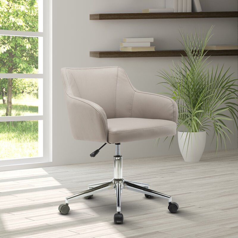 Ebern Designs Vance Comfy And Cly Home Office Mid Back Desk Chair