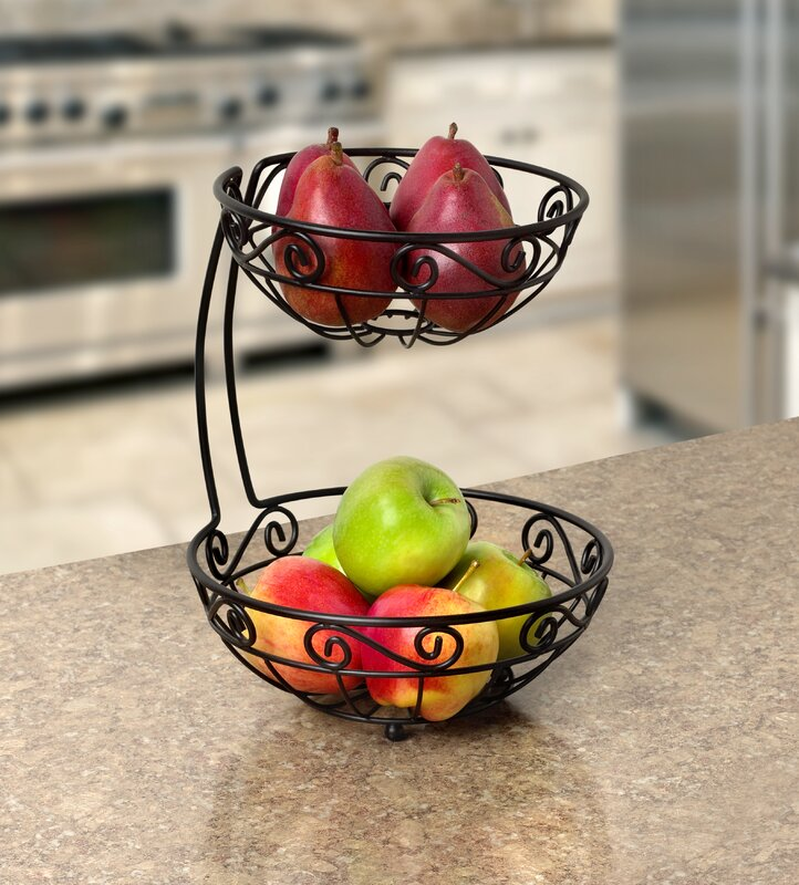 Jessica Arched 2 Tier Fruit Basket