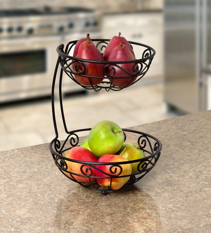 Jessica Arched 2 Tier Fruit Basket