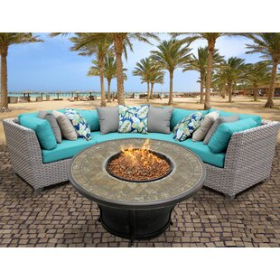 Florence 4 Piece Sectional Set with Cushions by TK Classics