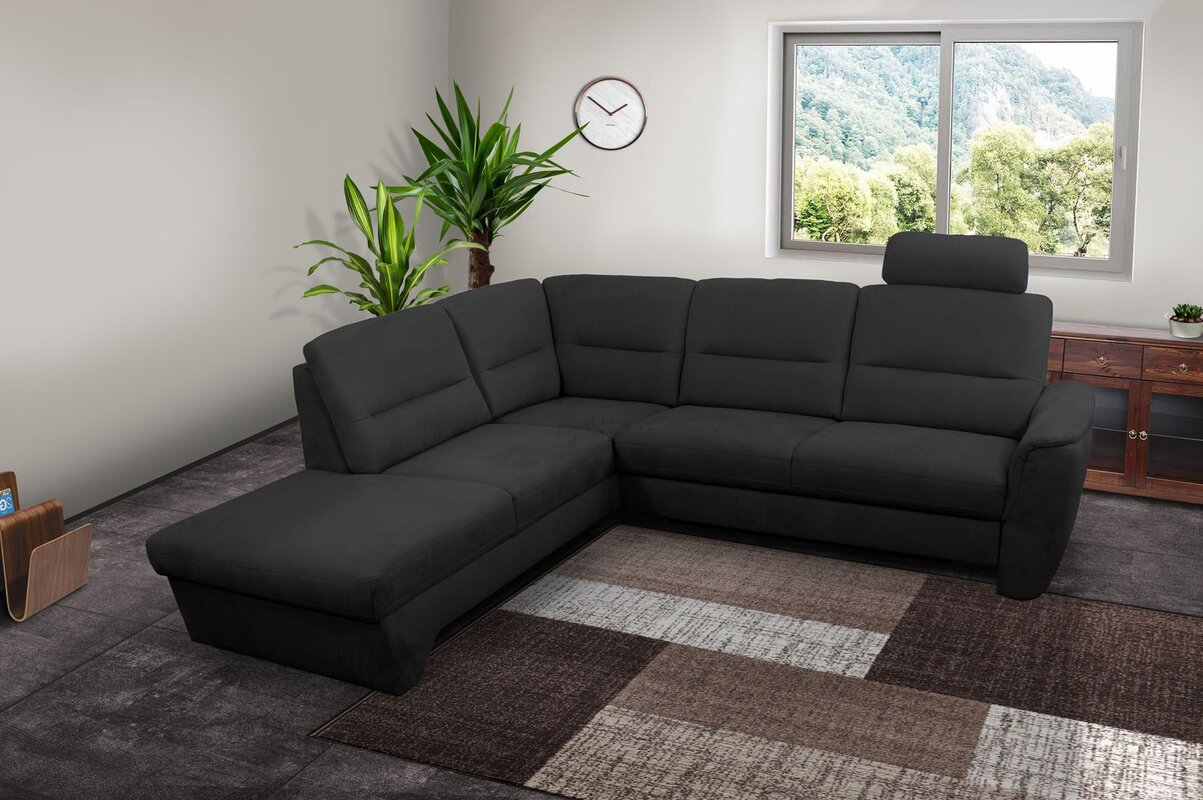 hazelwood home ecksofa lisa mit bettfunktion. Black Bedroom Furniture Sets. Home Design Ideas