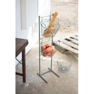 3 Tier Wire Basket Stand Wayfair