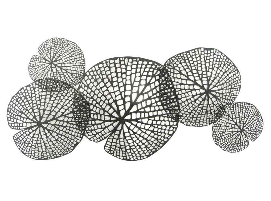 Metal Leaf Wall Decor sagebrook home metal lotus leaf wall décor & reviews | wayfair