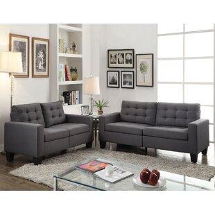 Glendia 3 Piece Living Room Set by Ebern Designs