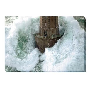 'Phares Dans La Tempête' by Jean Guichard Photographic Print on Wrapped Canvas by Artistic Home Gallery