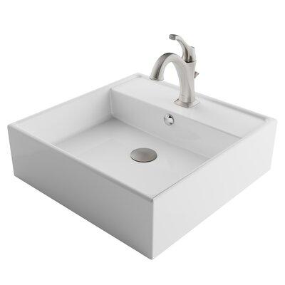 Ceramic Circular Bathroom Sink Faucet Overflow Faucet