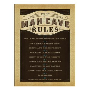 'Man Cave' Textual Art on Canvas by Loon Peak