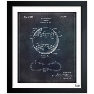 Baseball 1928 Framed Graphic Art by Oliver Gal