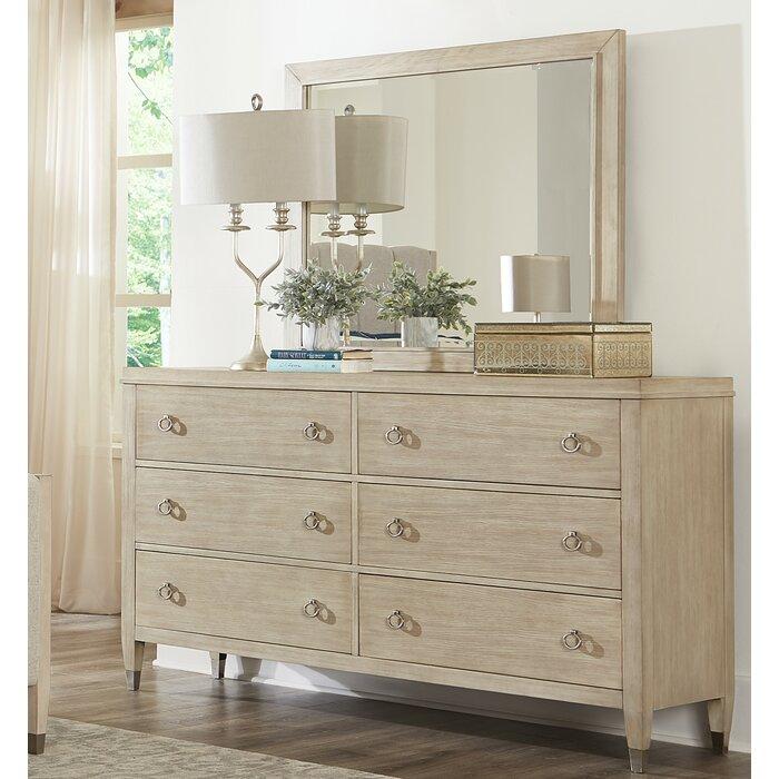 Sausalito 6 Drawer Standard Dresser With Mirror