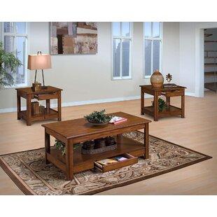 Best Reviews Clearfield 3 Piece Coffee Table Set ByLoon Peak