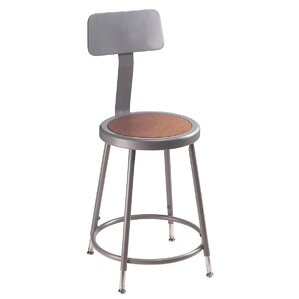 Height Adjustable Stool with Backrest  sc 1 st  Wayfair & Office Stools Youu0027ll Love | Wayfair islam-shia.org
