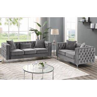 Marti Hickory Modern 2 Piece Living Room Set by House of Hampton®