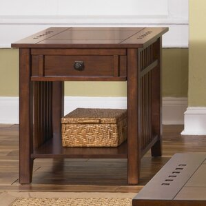 Menlo Park End Table With Storage by Loon Peak