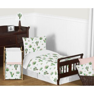 Cactus Floral 5 Piece Toddler Bedding Set