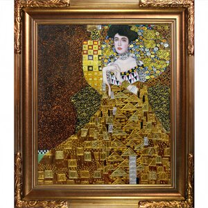 'Portrait of Adele Bloch-Bauer I' by Gustav Klimt Framed Painting Print on Wrapped Canvas by La Pastiche