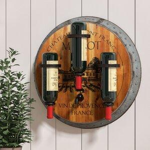 Eden Merlot 3 Bottle Wall Mounted Wine Rack by August Grove