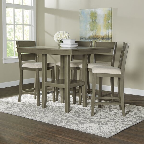 Birch Lane™ Brantford 5-Piece Counter-Height Dining Set & Reviews ...