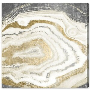 'Silver Gold Agate' Graphic Art on Wrapped Canvas by Willa Arlo Interiors
