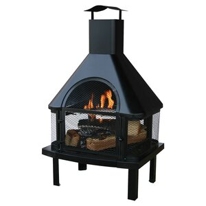 Tignes Wood Burning Outdoor Fireplace