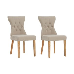 wimbledon upholstered dining chair set set of 2