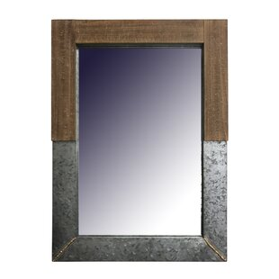 Gracie Oaks Dockett Metal with Wood Accent Mirror