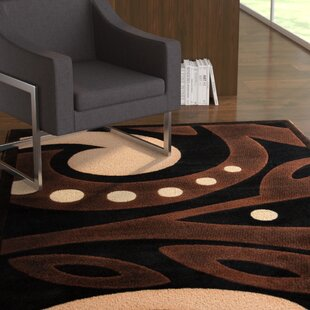 Clearance Sunshine Black Area Rug By Ebern Designs