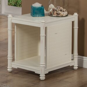 Goeltz Distressed End Table by Highland Dunes