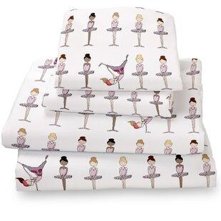 Ballerina / Brake Dancer Extra Deep Pocket Sheet Set ByWhere the Polka Dots Roam