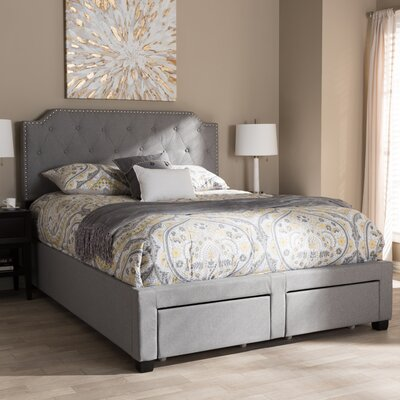 Meador Upholstered Storage Platform Bed & House of Hampton Meador Upholstered Storage Platform Bed u0026 Reviews ...