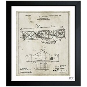 Wright Flying-Machine 1906 Framed Graphic Art by Oliver Gal