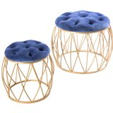 Hanceville Metal Accent Stool by Mercer41
