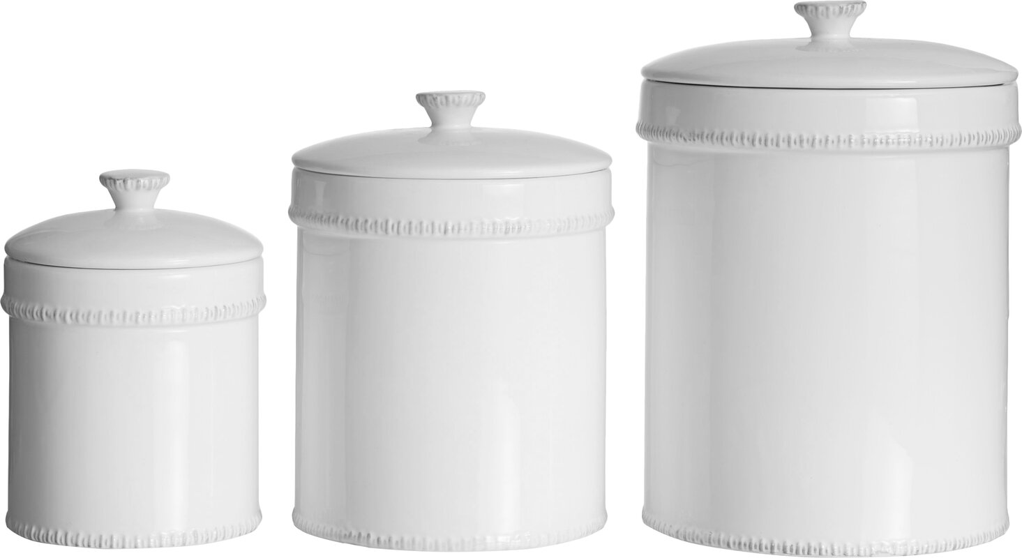 3-Piece Mamie Canister Set. Shop Drew's Honeymoon House! {Kitchen & Dining Room} #PropertyBrothers