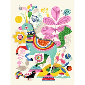 Shayla Unicorn Happiness Canvas Wall Art by Zoomie Kids